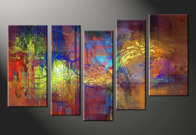 Famous Multiple Canvas Wall Art Regarding Multiple Canvas Painting Best Of Vvvart Reviews 5 Piece Abstract (View 4 of 15)