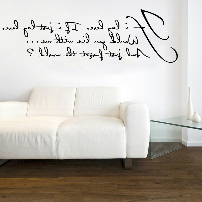 Famous Music Lyrics Wall Art Intended For Music Lyrics Wall Art Ebay – Decorating Ideas (View 12 of 15)