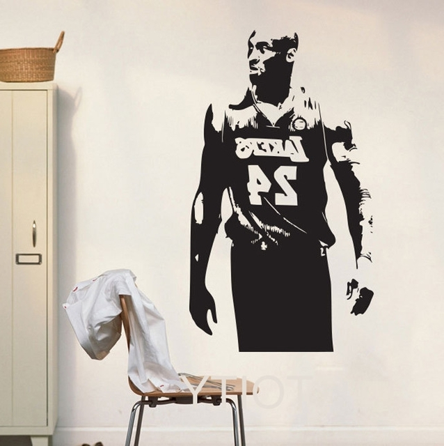 Famous Nba Wall Murals With Regard To Lakers Kobe Bryant Wall Art Sticker Nba Basketball Poster Graphic (View 15 of 15)
