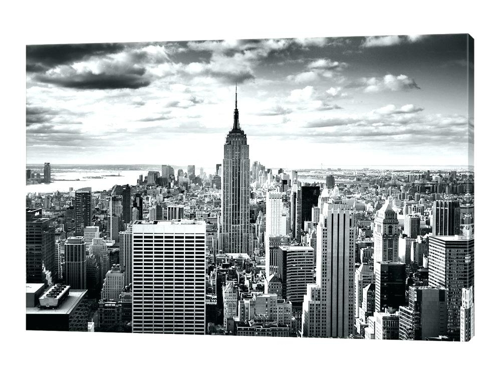 Famous New York Canvas Wall Art New Canvas Prints New York Skyline Canvas With Regard To New York Skyline Canvas Black And White Wall Art (View 5 of 15)