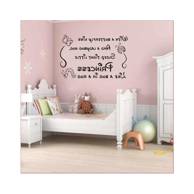 Famous Nursery Baby Princes Girl Wall Art Sticker, Wall Art Decal (View 2 of 15)