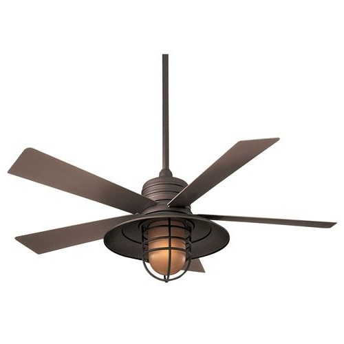 Famous Outdoor Ceiling Fans For Wet Areas For Minka Aire Rainman Oil Rubbed Bronze 54 Inch Blade Indoor/outdoor (View 1 of 15)