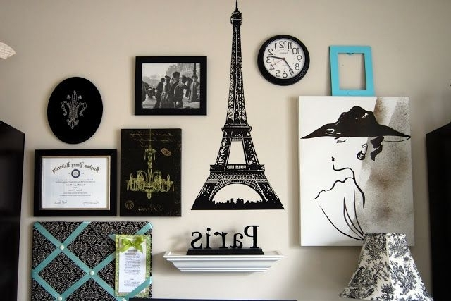 Famous Paris Gallery Wall Art Paris Diy Crafts Do It Yourself Diy Projects Inside Paris Theme Wall Art (View 3 of 15)