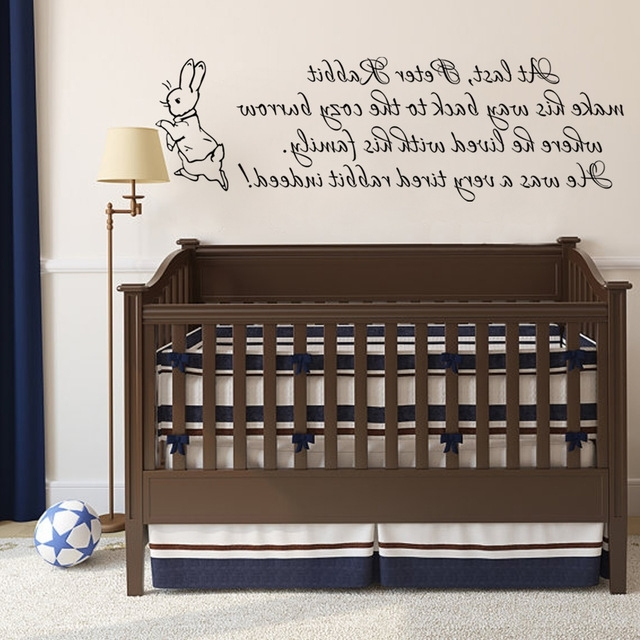 Famous Peter Rabbit Wall Decal Baby Nursery Wall Sticker Vinyl Lettering With Peter Rabbit Wall Art (View 11 of 15)