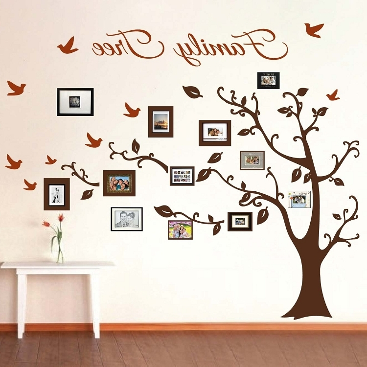 Famous Picture Frame Family Tree Wall Art, Tree Decals (View 8 of 15)