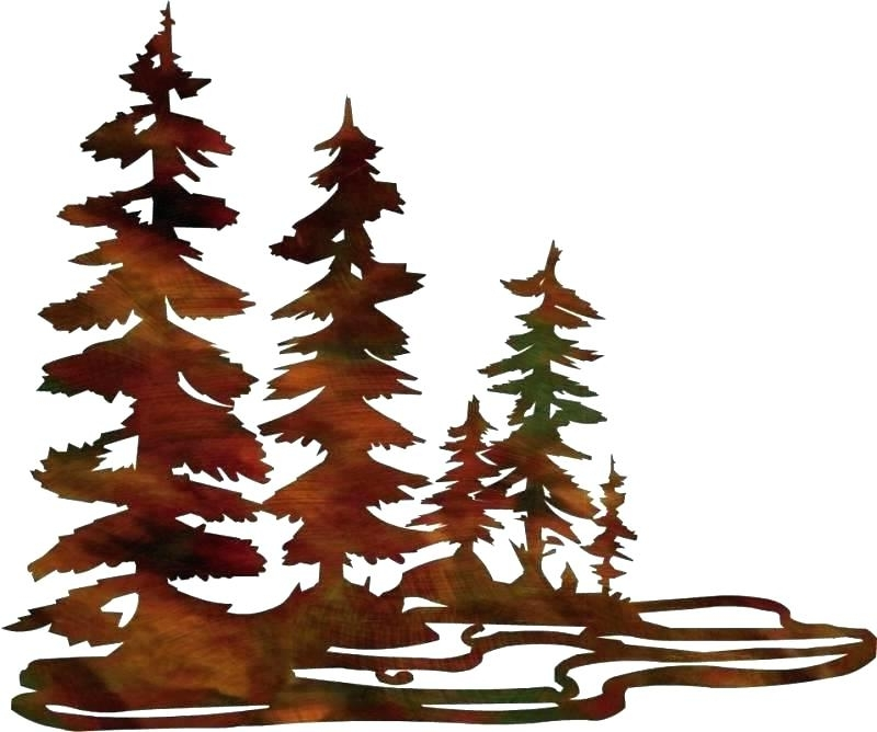 Famous Pine Tree Metal Wall Art For Metal Pine Tree Wall Art Pine Tree Forest Metal Wall Art – Commj (View 3 of 15)