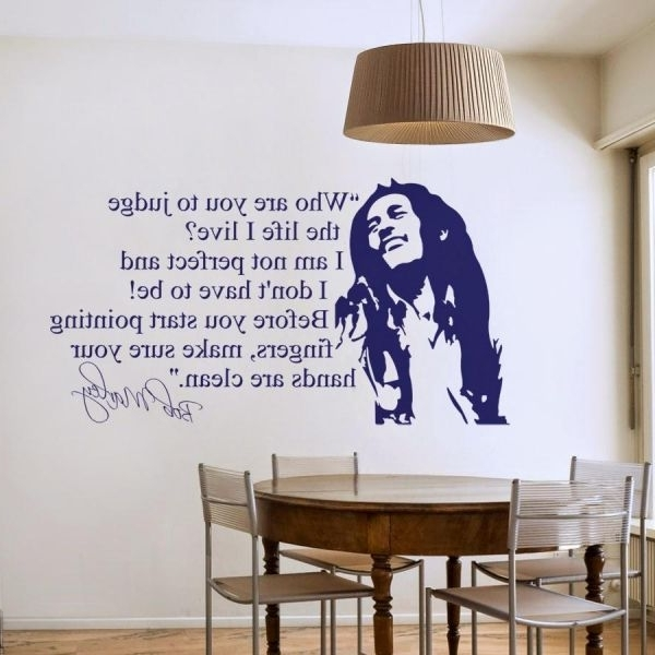 Famous Quotes For Celebrities, Bob Marley, Wall Stickers Inside Bob Marley Wall Art (View 14 of 15)