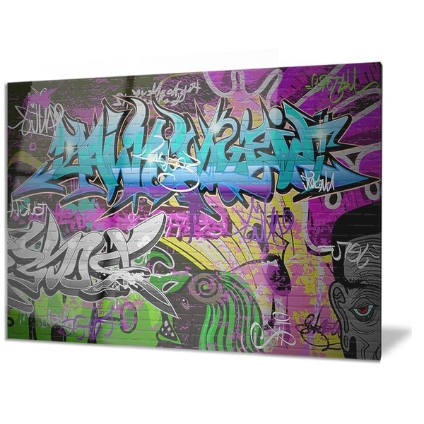 Famous Shop Designart 'graffiti Wall Urban Art' Abstract Street Art Metal In Abstract Graffiti Wall Art (View 10 of 15)