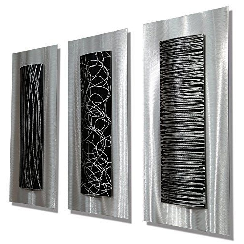 Famous Statements2000 Contemporary Black Silver Abstract Metal Wall Art Throughout Black Silver Wall Art (View 4 of 15)