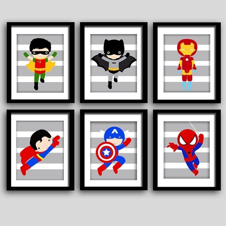 Famous Superhero Wall Art For Kids Regarding 43 Best Kids Bedroom Decor Images On Pinterest (View 2 of 15)