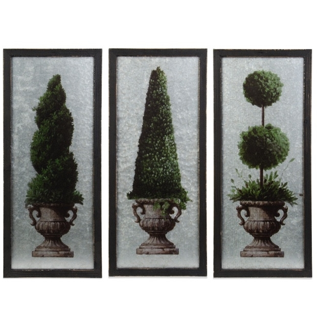 Famous Topiary Wall Art Inside Topiary Wall Art Arrangment, Set Of  (View 4 of 15)