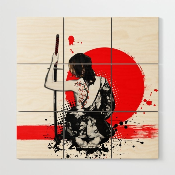 Famous Trash Polka – Female Samurai Wood Wall Artnicklasgustafsson Within Samurai Wall Art (View 6 of 15)