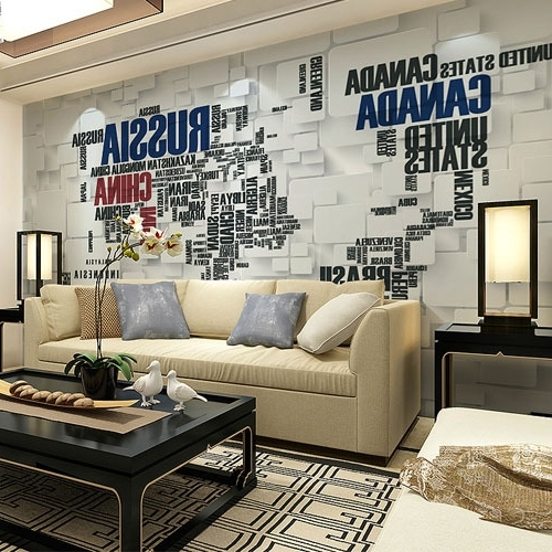 Famous Venezuela Wall Art 3D With Regard To Large Photo Mural 3D Wallpaper For Living Room Tv Sofa Background (View 1 of 15)