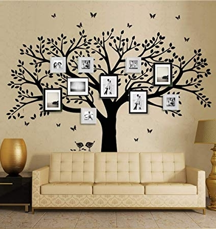 Famous Vinyl Wall Art Tree With Regard To Amazon: Anber Family Tree Wall Decal Butterflies And Birds Wall (View 4 of 15)