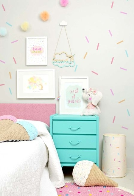 Famous Wall Art For Girls Pertaining To 24 Wall Decor Ideas For Girls' Rooms (View 14 of 15)