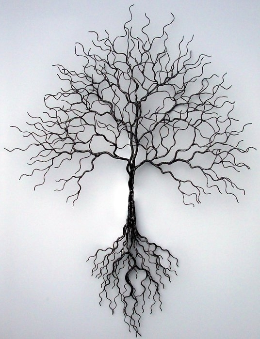 Famous Wall Art Ideas Design : Temporary Solution Metal Tree Wall Art Throughout Tree Sculpture Wall Art (View 3 of 15)