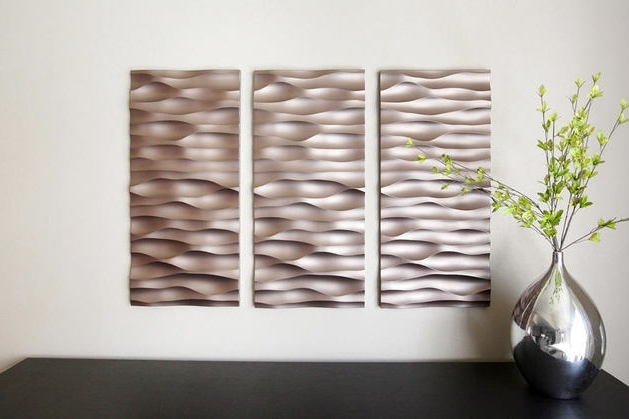 Famous Wetherill Park 3D Wall Art Intended For Wall Art Ideas Design : Awesome Brown 3D Wall Art Panels Portrait (View 3 of 15)
