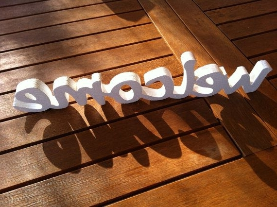 Famous Wooden Words Wall Art With Regard To Let's Cook – Wooden Words For Wall – Vintage Style Wooden Sign (View 8 of 15)