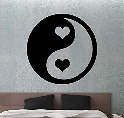 Famous Yin Yang Wall Sticker Vinyl Decal Chinese Decor Home Wall Decoration Throughout Yin Yang Wall Art (View 9 of 15)