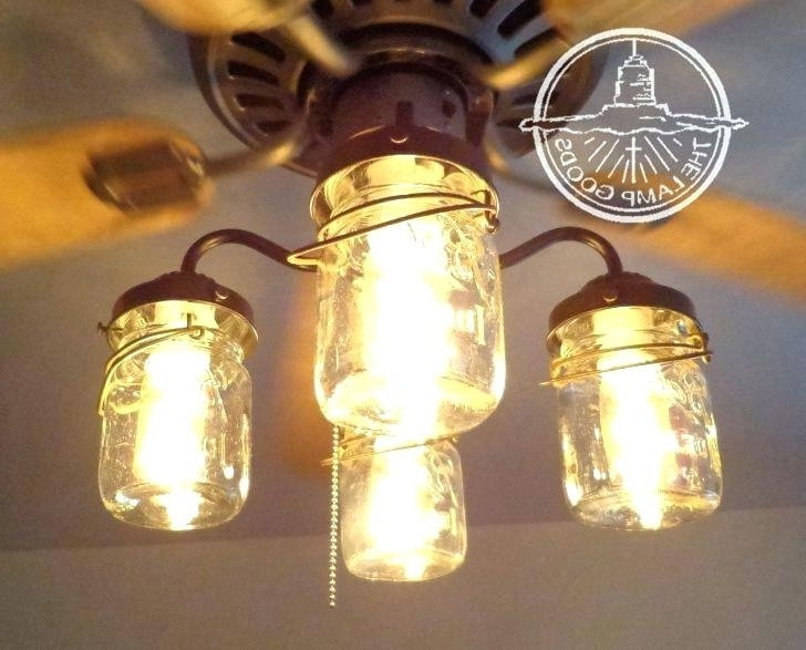 Farmhouse Style Ceiling Fans With Lights Mason Jar Fan Light With Most Up To Date Outdoor Ceiling Fans With Mason Jar Lights (View 7 of 15)