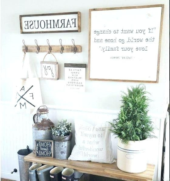 Farmhouse Wall Art Regarding Best And Newest Vast Farmhouse Wall Decor M1647162 Farmhouse Wall Decor Best (View 6 of 15)