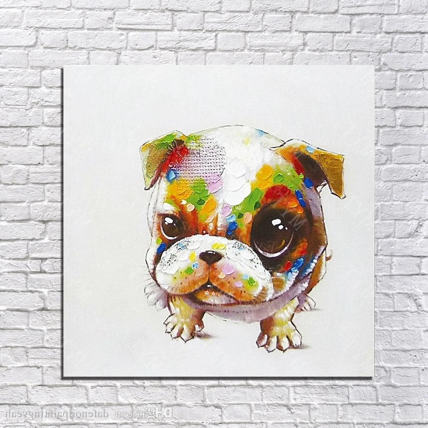 Fashionable 2018 Cheap Art Paintings Lovely Pet Dog Wall Pictures Abstract Pertaining To Abstract Dog Wall Art (View 6 of 15)