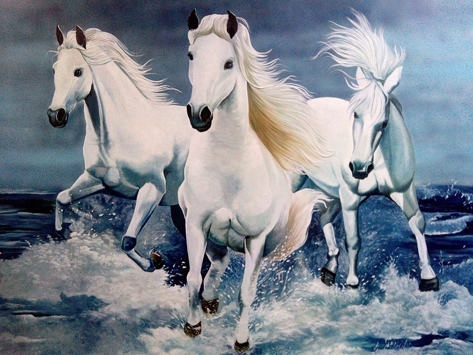 Fashionable 3D Horse Wall Art In Interior Wall Art :: 2D 3D 4D Wall Art Painting Designs (View 8 of 15)