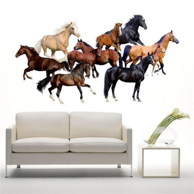 Fashionable 3D Horse Wall Sticker Wallpaper 3D Decals Poster Mural Art Decor For Inside 3D Horse Wall Art (View 9 of 15)