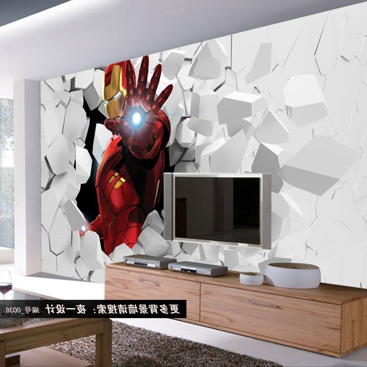 Fashionable 3D Iron Man Photo Wallpaper Custom Wall Murals Amazing Wallpaper For Iron Man 3D Wall Art (View 3 of 15)