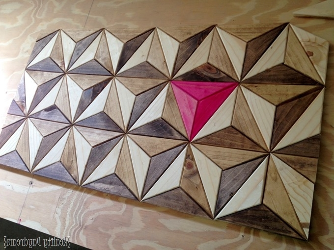 Fashionable 3D Triangle Wall Art Intended For One Board Challenge  3D Geometric Wall Art (View 9 of 15)
