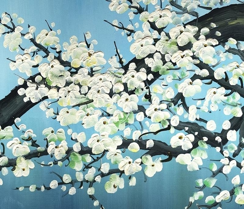 Fashionable Abstract Cherry Blossom Wall Art Throughout Cherry Blossom Canvas Painting Wall Art Decor Oil – Fourseasontravels (View 10 of 15)