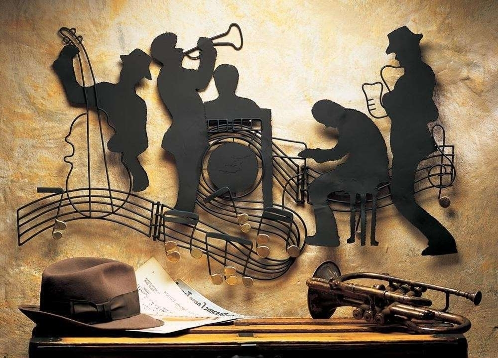 Fashionable Abstract Jazz Band Wall Art Regarding Music Wall Art Lovely Jazz Music Themed Musician Metal Wall Art Wall (View 5 of 15)