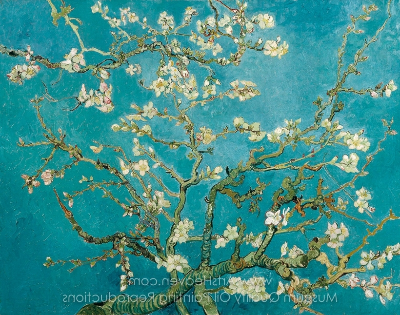 Fashionable Almond Blossoms Vincent Van Gogh Wall Art Inside Vincent Van Gogh Blossoming Almond Tree (View 12 of 15)