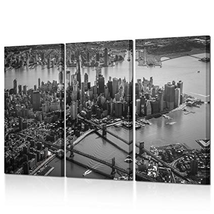 Fashionable Amazon: Kreative Arts – 3 Pieces Canvas Wall Art Black And White With New York City Canvas Wall Art (View 5 of 15)