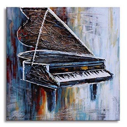 Fashionable Amazon: Sumeru Piano Canvas Wall Art Paintings Abstract Musical For Abstract Piano Wall Art (View 8 of 15)