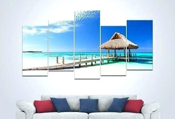 Fashionable Decoration: Large Coastal Wall Art Ocean Nautical Decor Beach Canvas Within Coastal Wall Art Canvas (View 10 of 15)