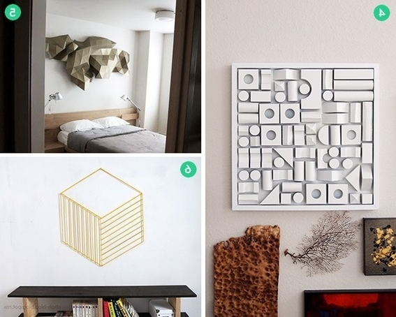 Fashionable Diy 3D Wall Art Decor Intended For 12 Cool 3D Wall Art And Tabletop Decor Projects Curbly, Diy Large (View 2 of 15)