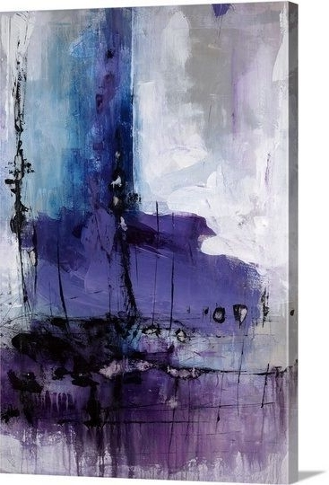 "Fashionable Donde"" Deep Blue And Purple Abstract Canvas Printjoshua Schicker For Purple Abstract Wall Art (View 10 of 15)"