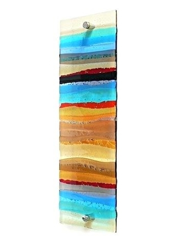 Fashionable Fused Glass Wall Art Purple Glass Wall Art Handmade Glass Wall Panel Within Glass Wall Art Panels (View 12 of 15)