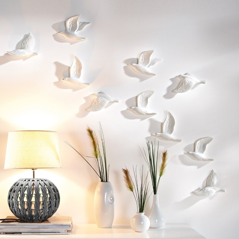 Fashionable Golden Silver Flying Birds Wall Art (View 8 of 15)