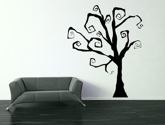 Fashionable I Love It That Etsy Has Soooo Many 'burton Esque' Tree Wall Decals Pertaining To Tim Burton Wall Decals (View 5 of 15)