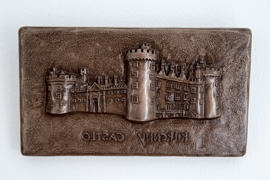 Fashionable Ireland Metal Wall Art Regarding Kilkenny Castle Irish Bronze Wall Art – The Irish Workshop (View 7 of 15)