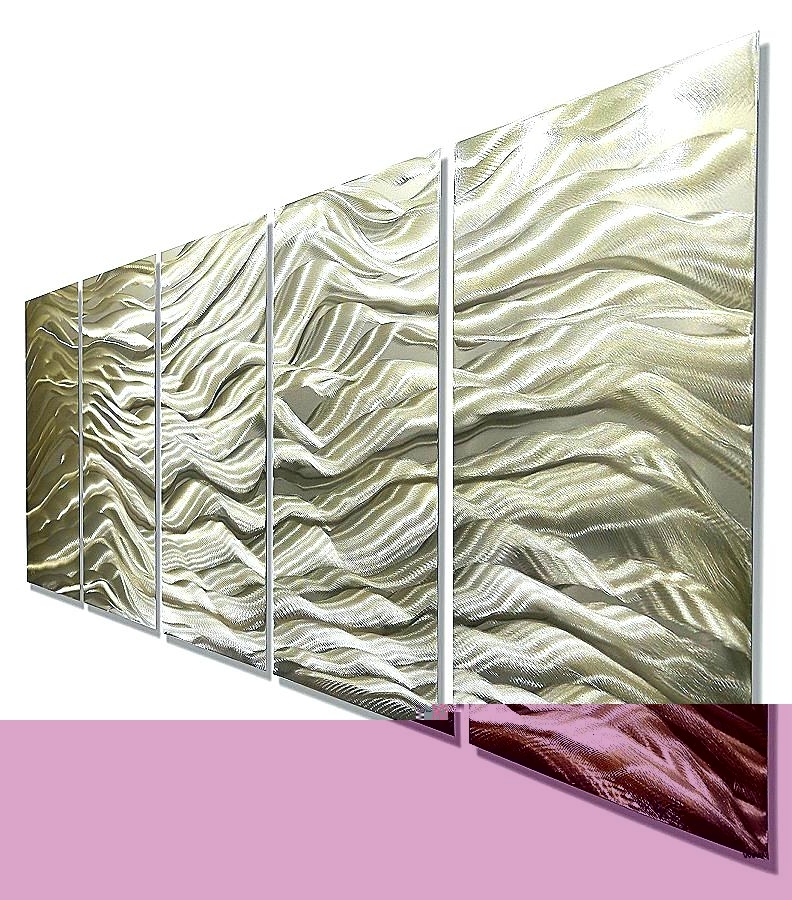 Fashionable Ireland Metal Wall Art Regarding Wall Art Silver Gold Wall Art Silver And Gold Wall Art Fresh River (View 8 of 15)