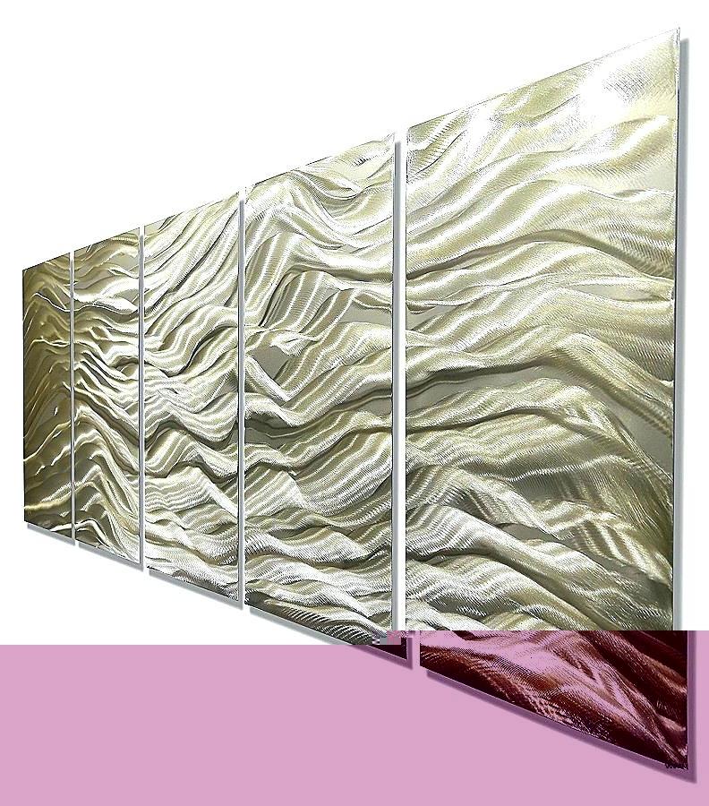 Fashionable Ireland Metal Wall Art Regarding Wall Art Silver Gold Wall Art Silver And Gold Wall Art Fresh River (View 15 of 15)