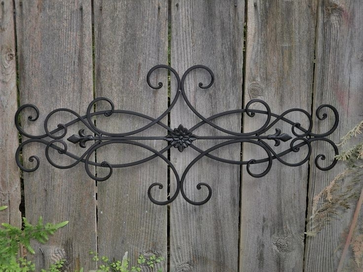 Fashionable Iron Garden Wall Art Attractive Decor Wrought With Outdoor 6 In Wrought Iron Garden Wall Art (View 10 of 15)