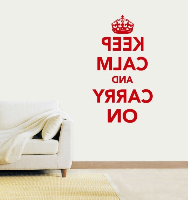 Fashionable Keep Calm And Carry On Vinyl Wall Art Sticker Decal Black Large With Keep Calm And Carry On Wall Art (View 3 of 15)