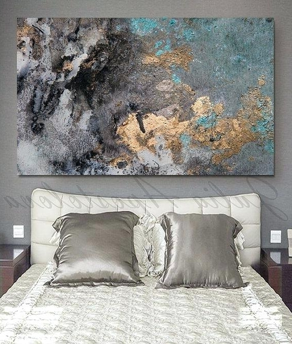 Fashionable Large Abstract Canvas Wall Art Abstract Watercolor Pint On Canvas In Large Abstract Canvas Wall Art (View 4 of 15)