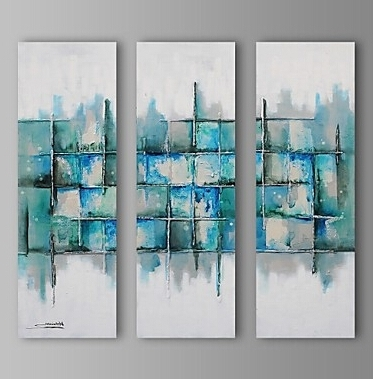Fashionable Light Color Pieces Modern Abstract Oil Painting Wall Art With With Regard To Light Abstract Wall Art (View 6 of 15)
