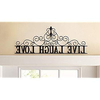 "Fashionable Live Love Laugh Metal Wall Art In Amazon: Fruit "" Live Well Love Much Laugh Often "" Wall Art (View 1 of 15)"