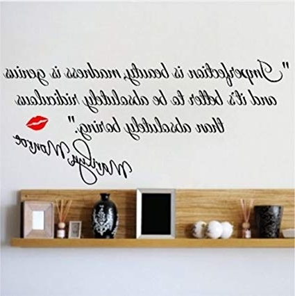 Fashionable Marilyn Monroe Wall Art Quotes Throughout Decalgeek Dg Miib 1 Imperfection Is Beauty Marilyn Monroe Wall (View 3 of 15)